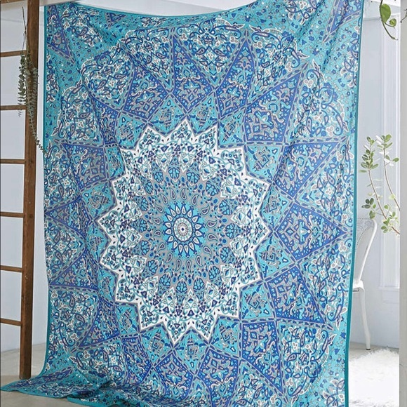 Urban Outfitters Blue Elephant Tapestry